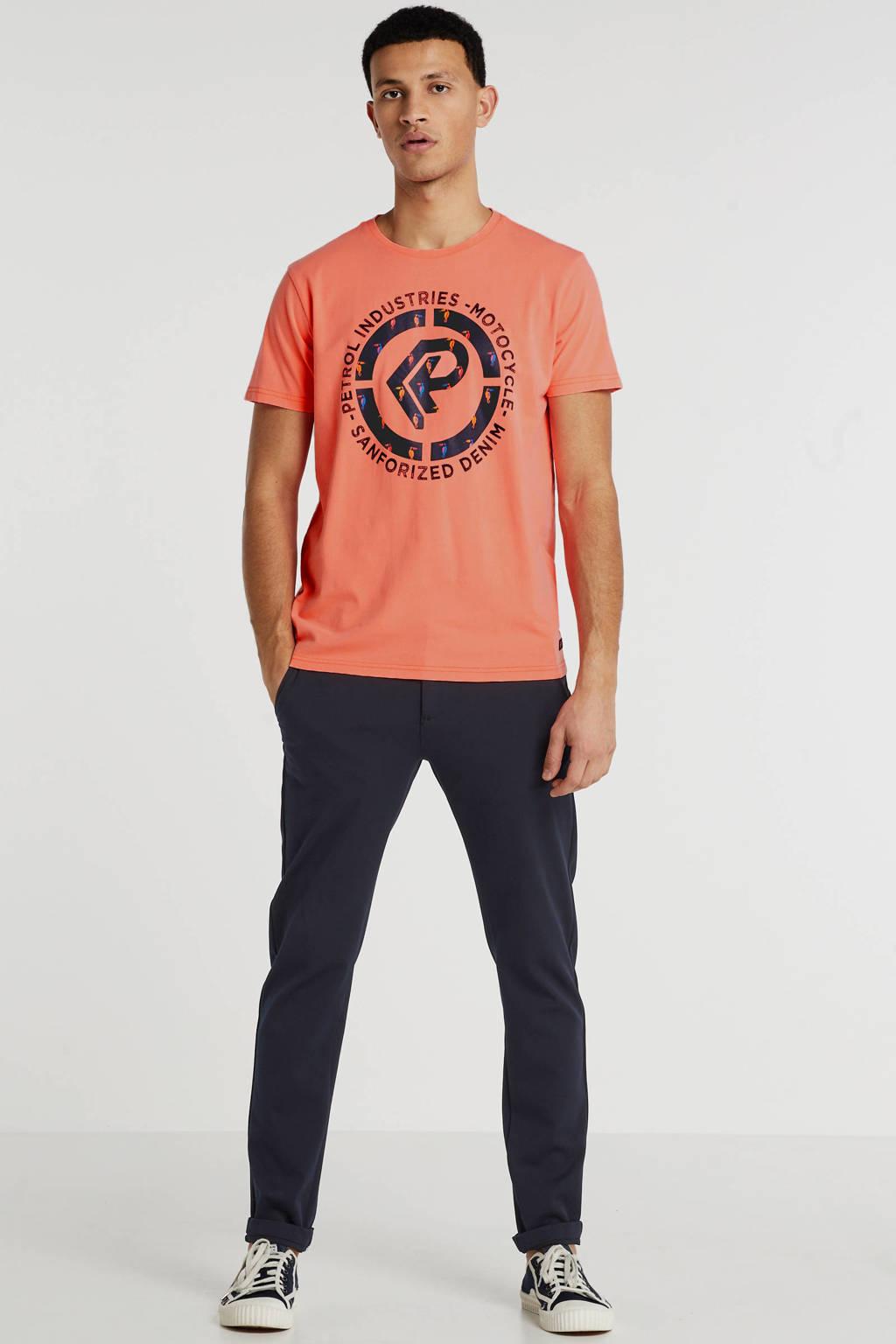 Petrol Industries T-shirt met logo zalm, Zalm