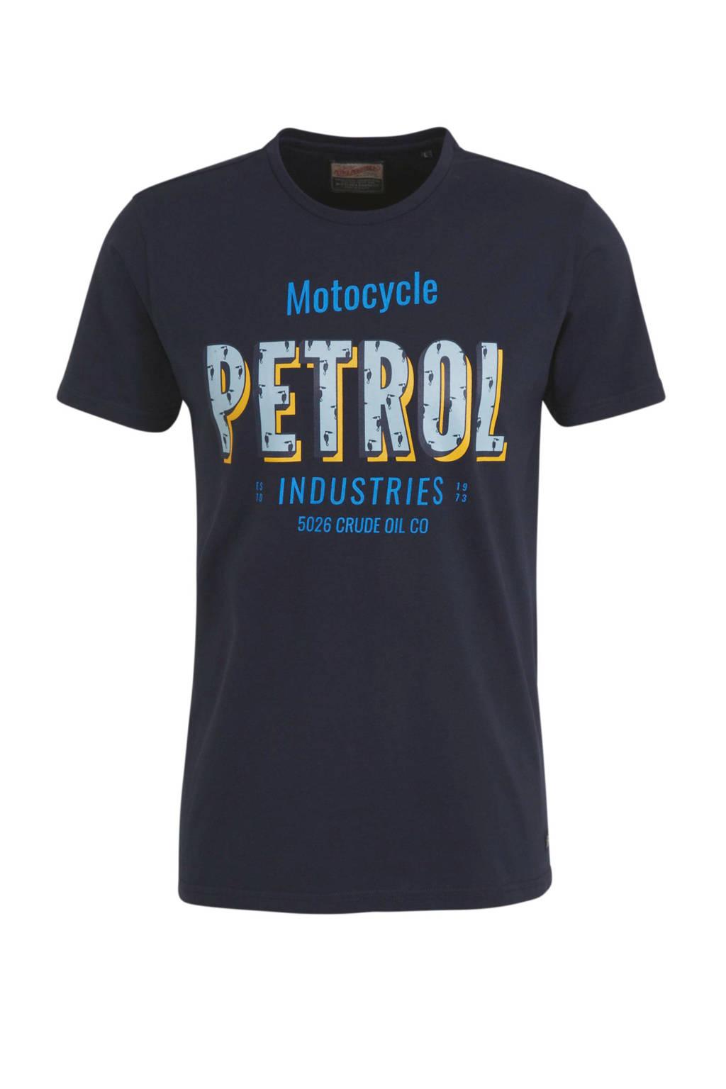 Petrol Industries T-shirt met logo zwart, Zwart