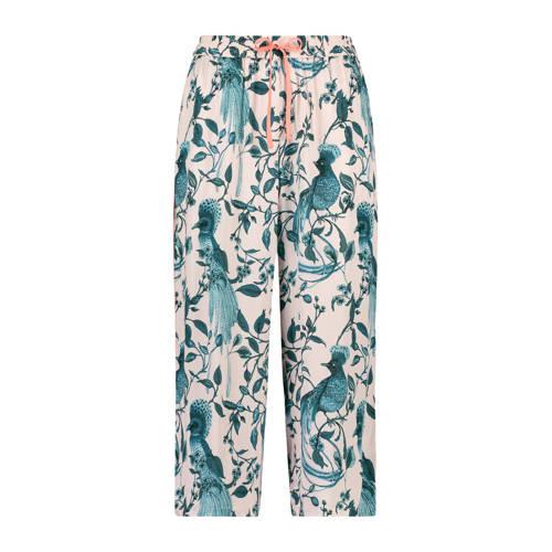 Hunkem??ller pyjamabroek met all over print roze/b