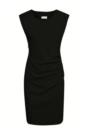 jurk en plooien zwart