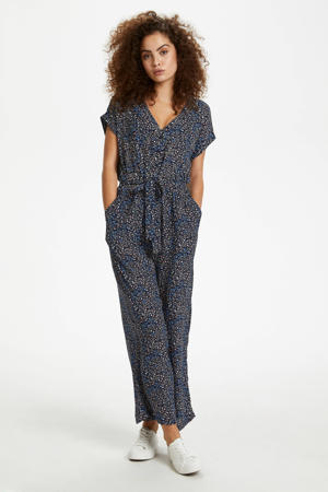 jumpsuit met all over print blauw