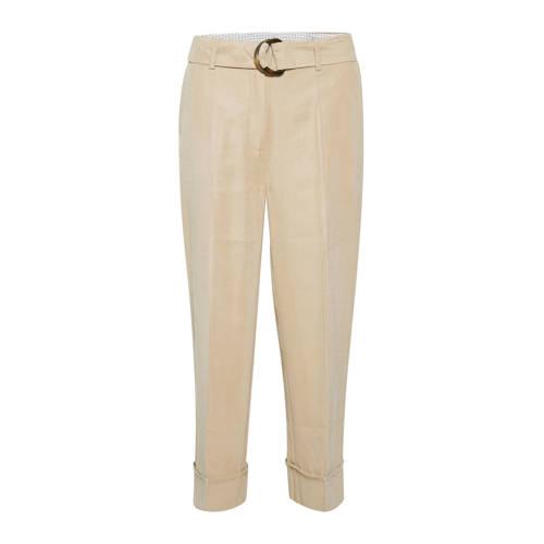 Kaffe high waist straight fit broek beige