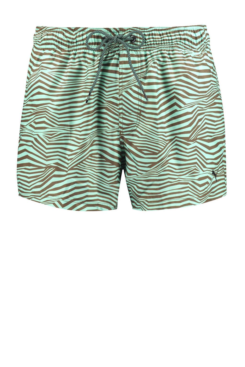 Puma zwemshort met all over print mintgroen, Mintgroen/groen