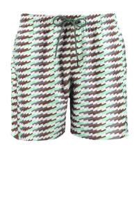 Puma zwemshort met all over print mint/bruin, Mintgroen / groen