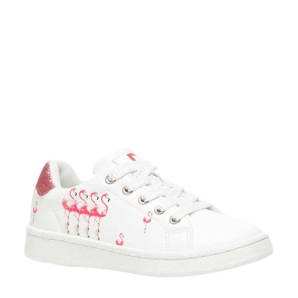 Scapino Blue Box   sneakers wit/flamingo, Wit/roze