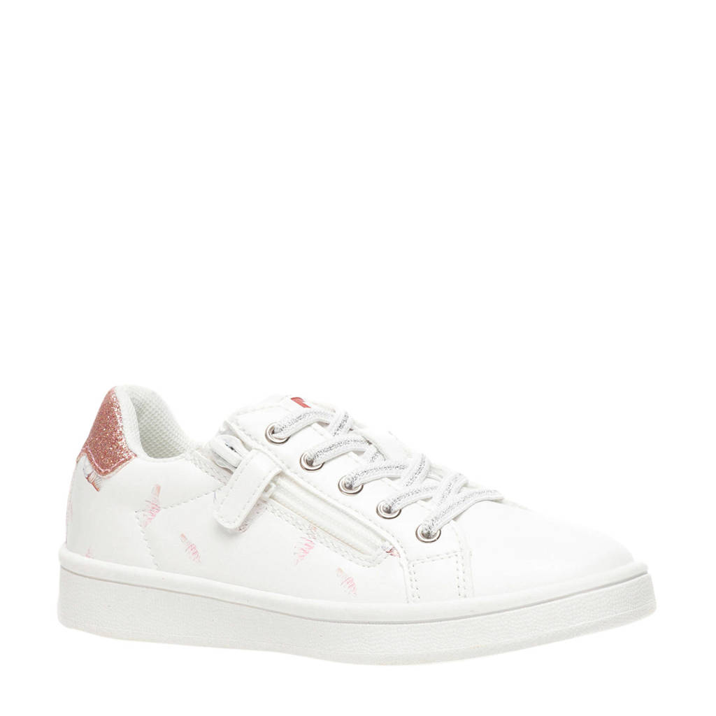 Scapino Blue Box   sneakers wit/roze, Wit/roze
