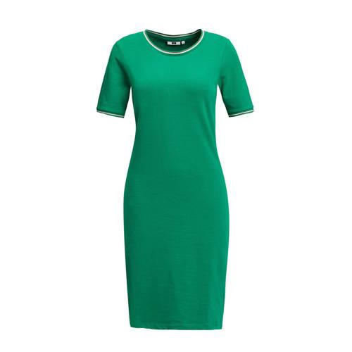 WE Fashion jersey jurk met biologisch katoen groen
