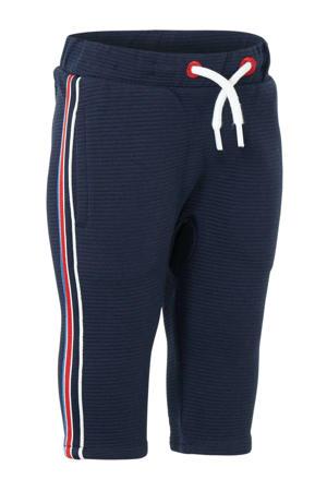 broek met zijstreep donkerblauw/rood/wit