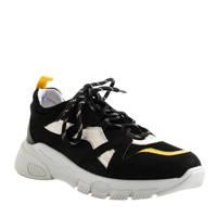 Shoeby Mary  sneakers  zwart/geel, Zwart/geel/wit
