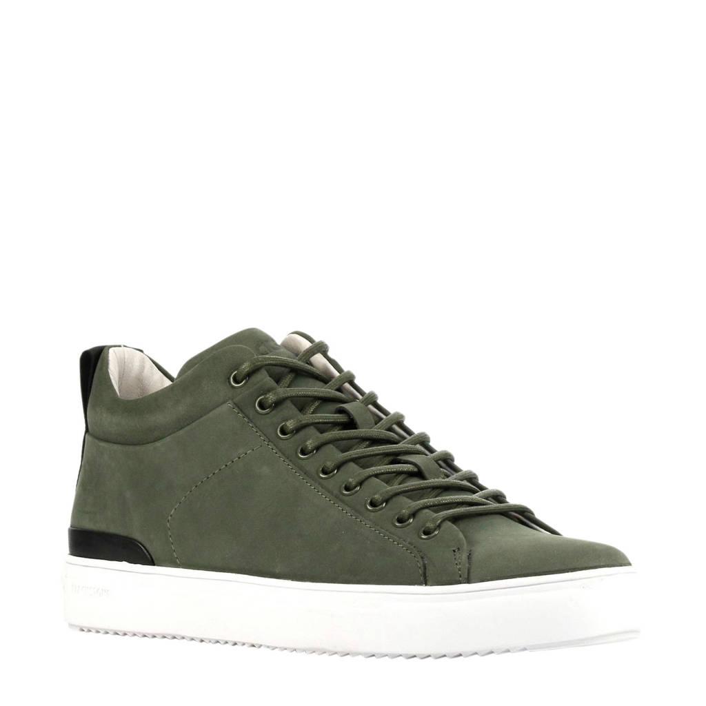 Blackstone RM14nb  halfhoge nubuck sneakers groen, Groen
