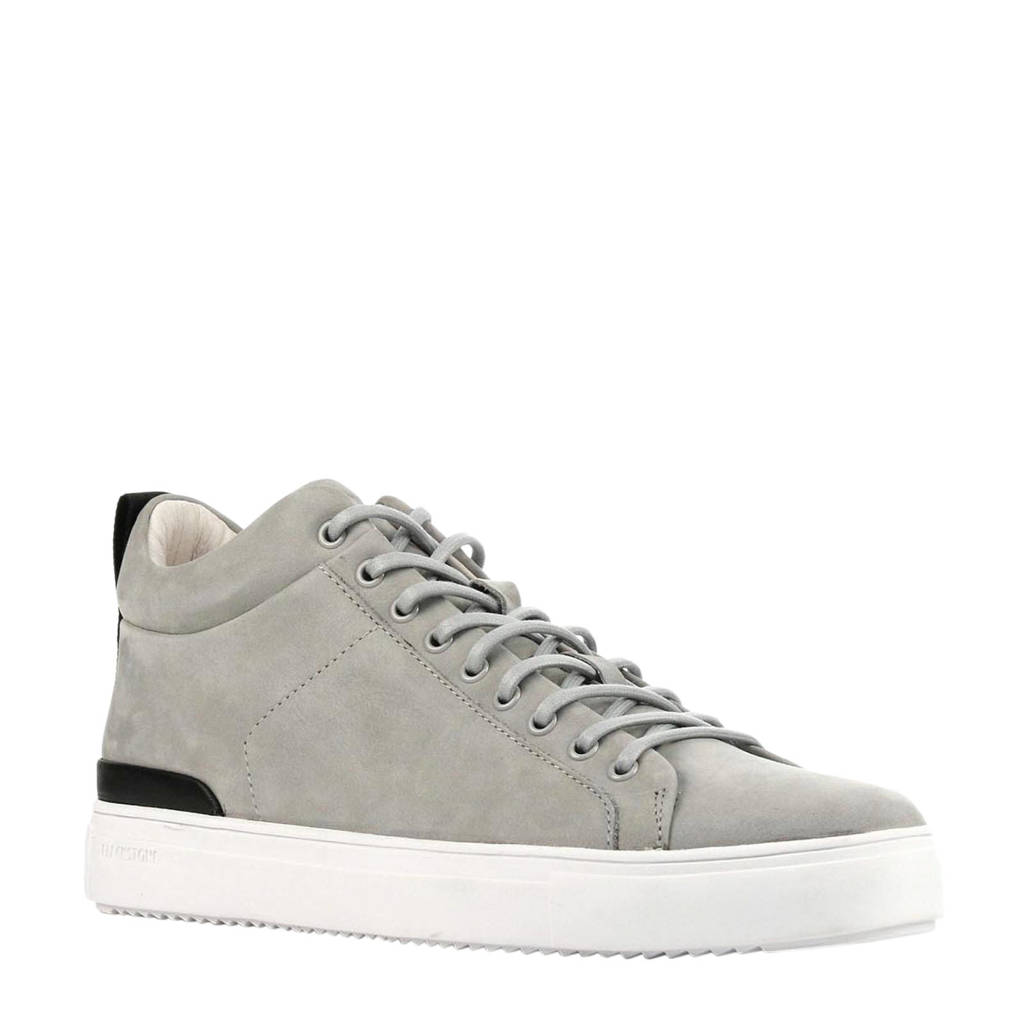 Blackstone RM14nb  halfhoge nubuck sneakers grijs, Grijs