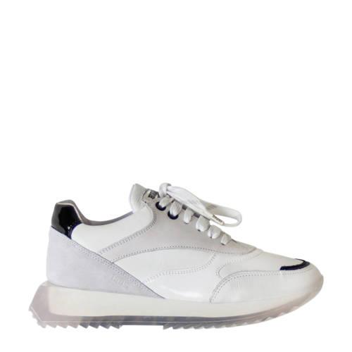 Bronx Linkk-Up leren sneakers wit/zwart