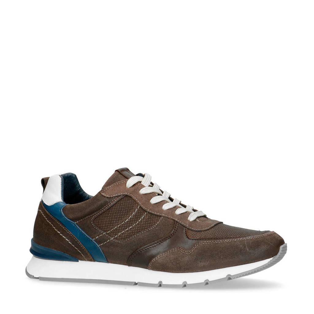 No Stress   suède sneakers grijs/bruin, Grijs/Burin