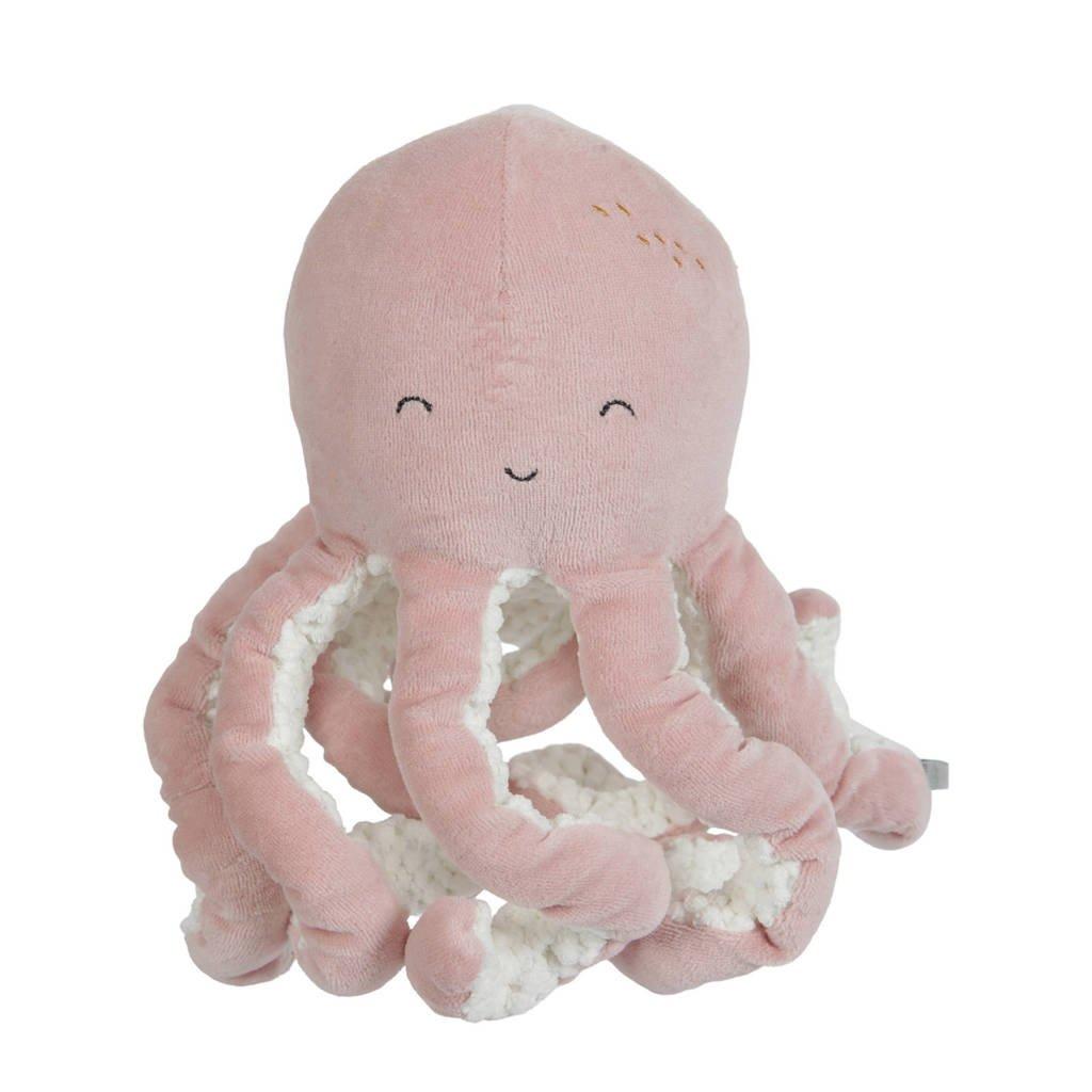 Little Dutch octopus knuffel 22 cm, Roze
