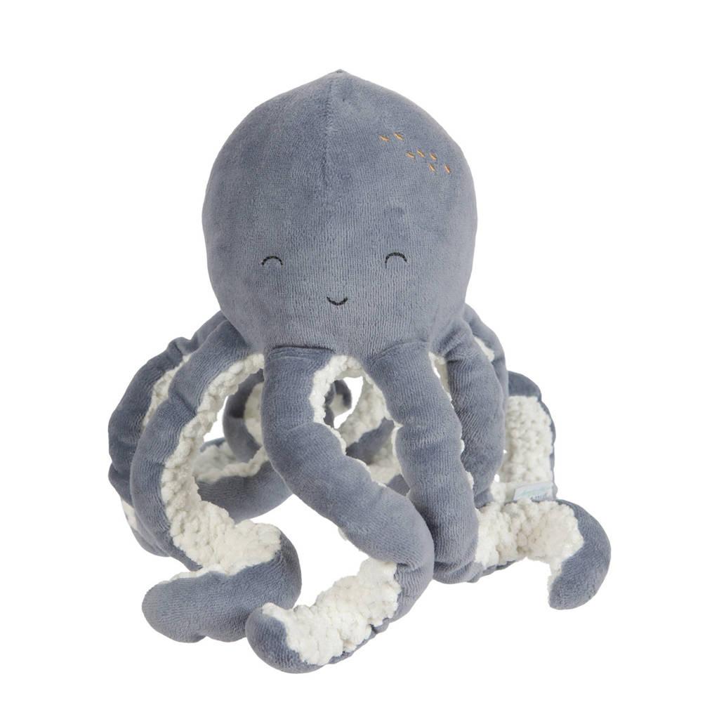 Little Dutch octopus knuffel 22 cm, Blauw