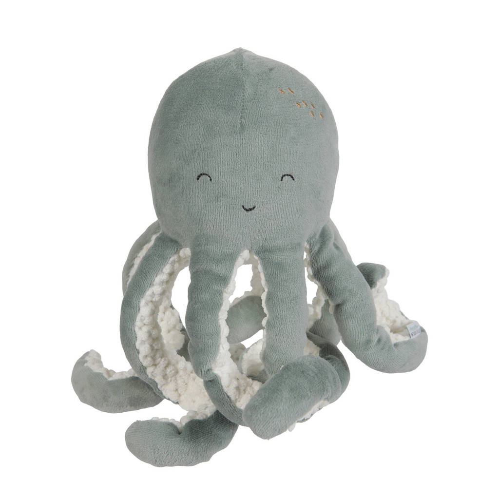 Little Dutch octopus knuffel 22 cm, Mintgroen
