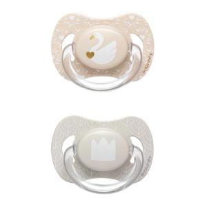 Swan fopspeen silicone 0-4 mnd - set van 2 zwaan + kroon