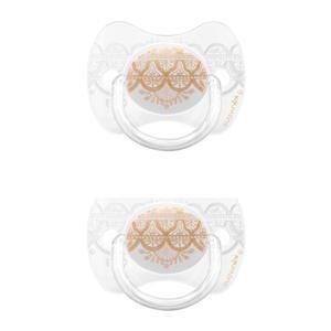 Couture fopspeen silicone Grey 0-4 mnd - set van 2