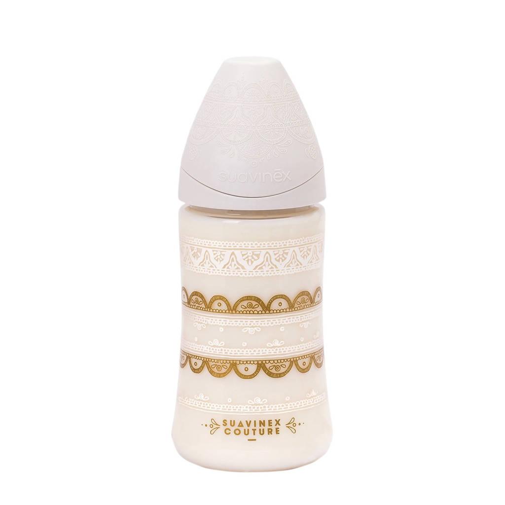 Suavinex Couture fles 270 ml +0 mnd Grey