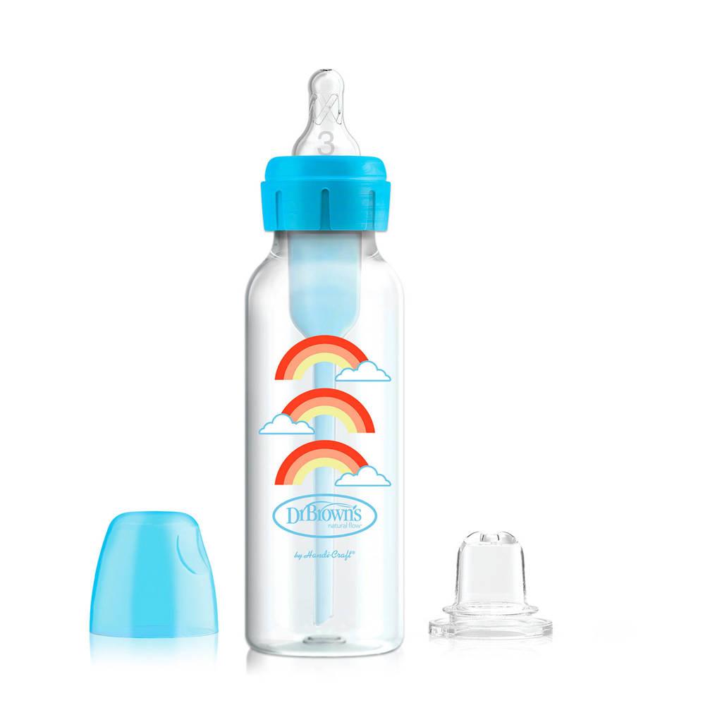 Dr. Brown's Bottle to Sippy Starterkit Standaard 250 ml blauw, Blauw