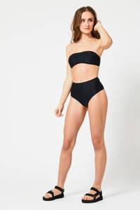 America Today high waist bikinibroekje Ally met rib structuur zwart, Zwart