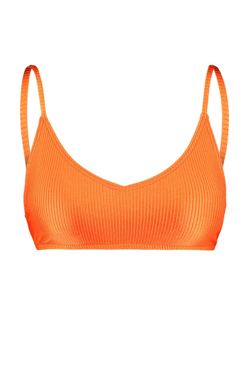 America Today bikinitop Apua met rib structuur oranje, Oranje