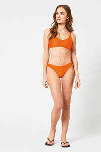 America Today high leg brazilian bikinibroekje Apua met rib textuur oranje, Orange