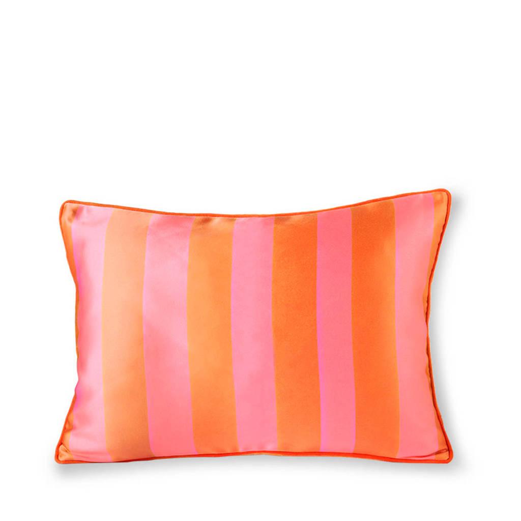 HKliving sierkussen (50x35 cm), Oranje/roze