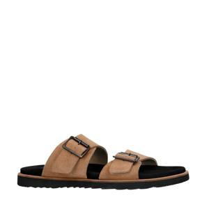 suède slippers beige