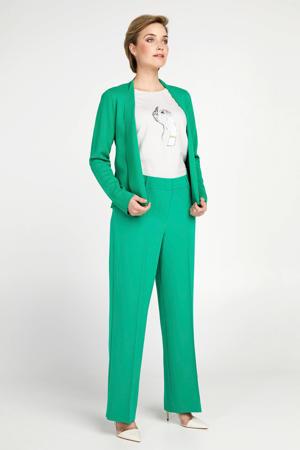 high waist straight fit broek groen