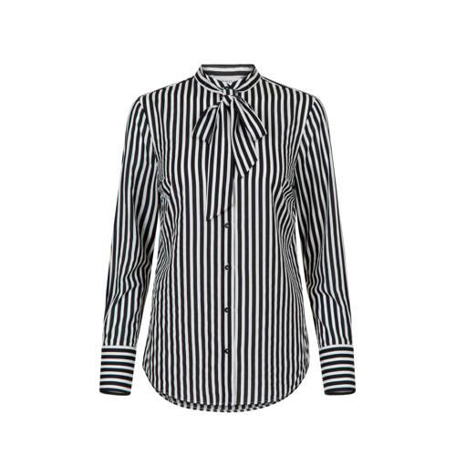 PROMISS gestreepte blouse zwart