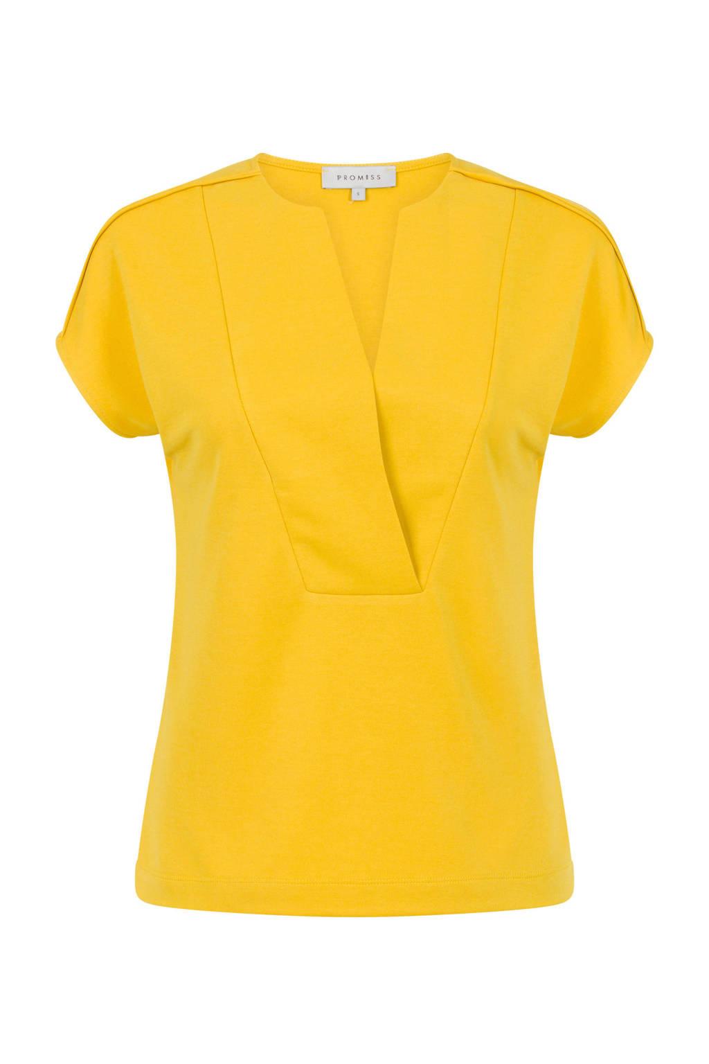 PROMISS T-shirt geel, Geel