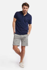 Shiwi slim fit polo donkerblauw, Donkerblauw