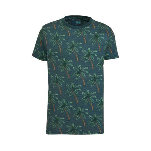 Shiwi T-shirt met all over print groen