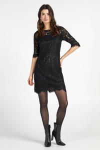 Steps kanten jurk zwart, Zwart