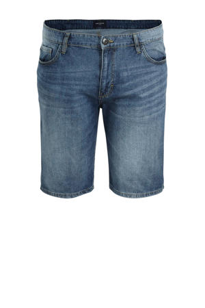 slim fit jeans short light stone wash denim
