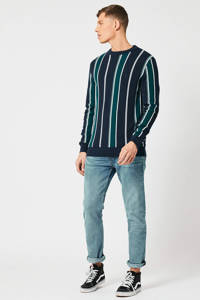 America Today gestreepte sweater navy, Navy