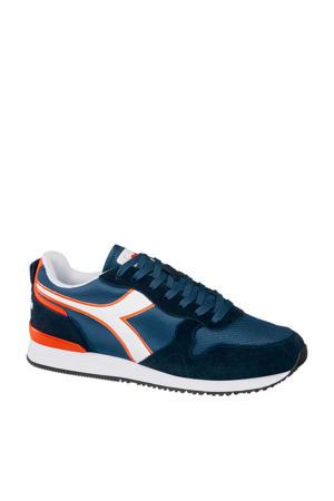Olympia  suède sneakers blauw/oranje