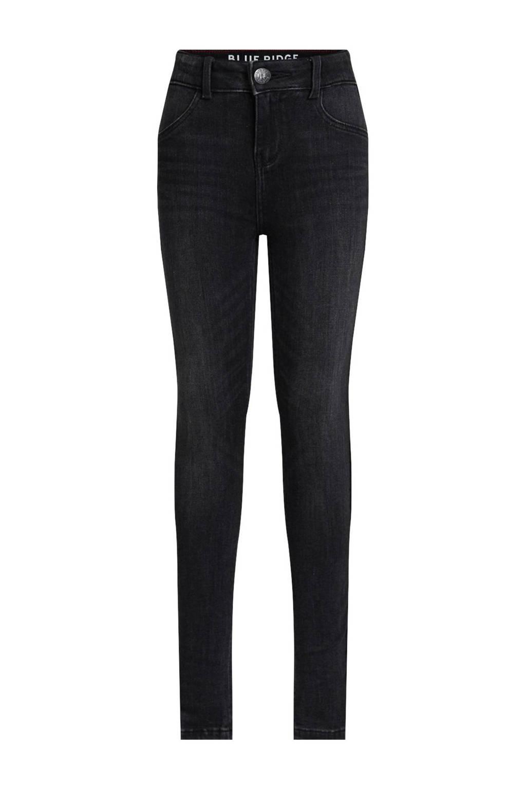 WE Fashion Blue Ridge super skinny jeans Yfke antraciet, Antraciet