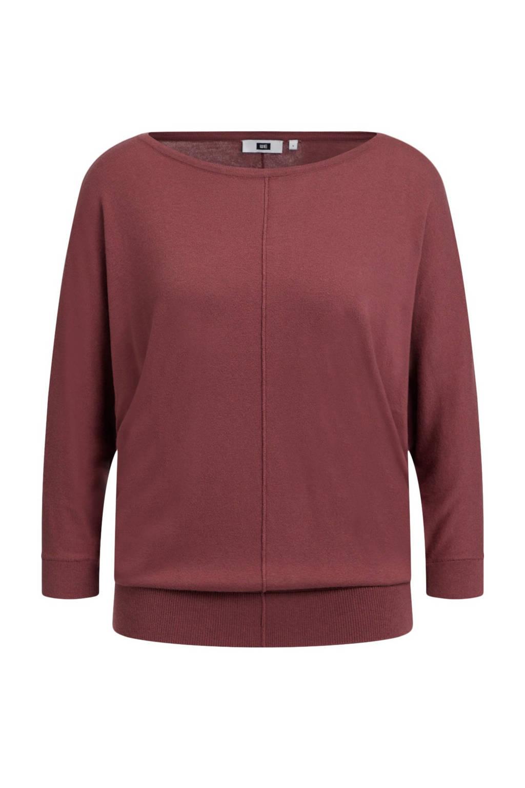WE Fashion fijngebreide trui roodbruin, Roodbruin