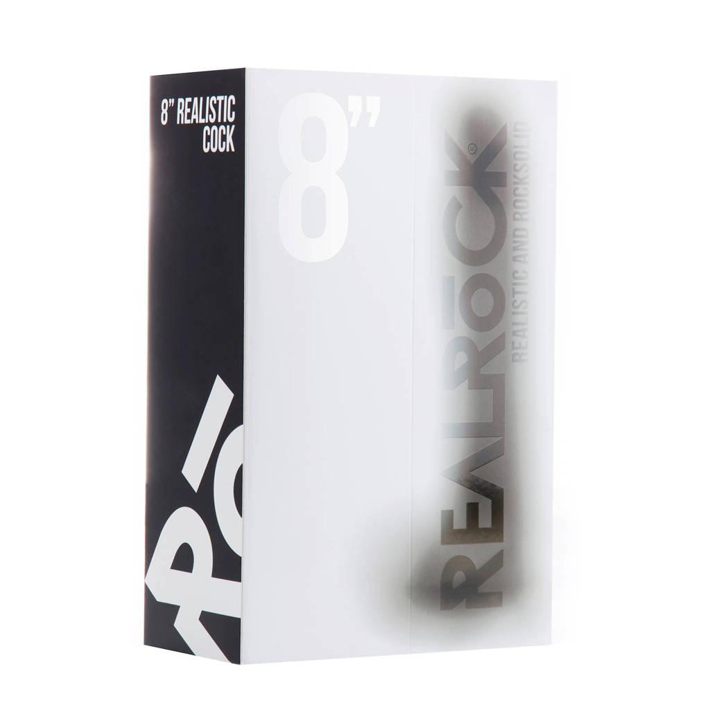RealRock Realistische Dildo met Ballen en Sterke Zuignap - 20 cm - Zwart