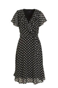 Smashed Lemon jurk zwart/wit, Zwart/wit