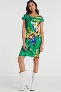 Smashed Lemon jurk met all over print groen/multi, Groen/multi