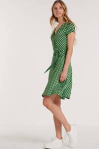Smashed Lemon jersey jurk met all over print groen, Groen