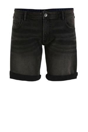 slim fit jeans short black rock