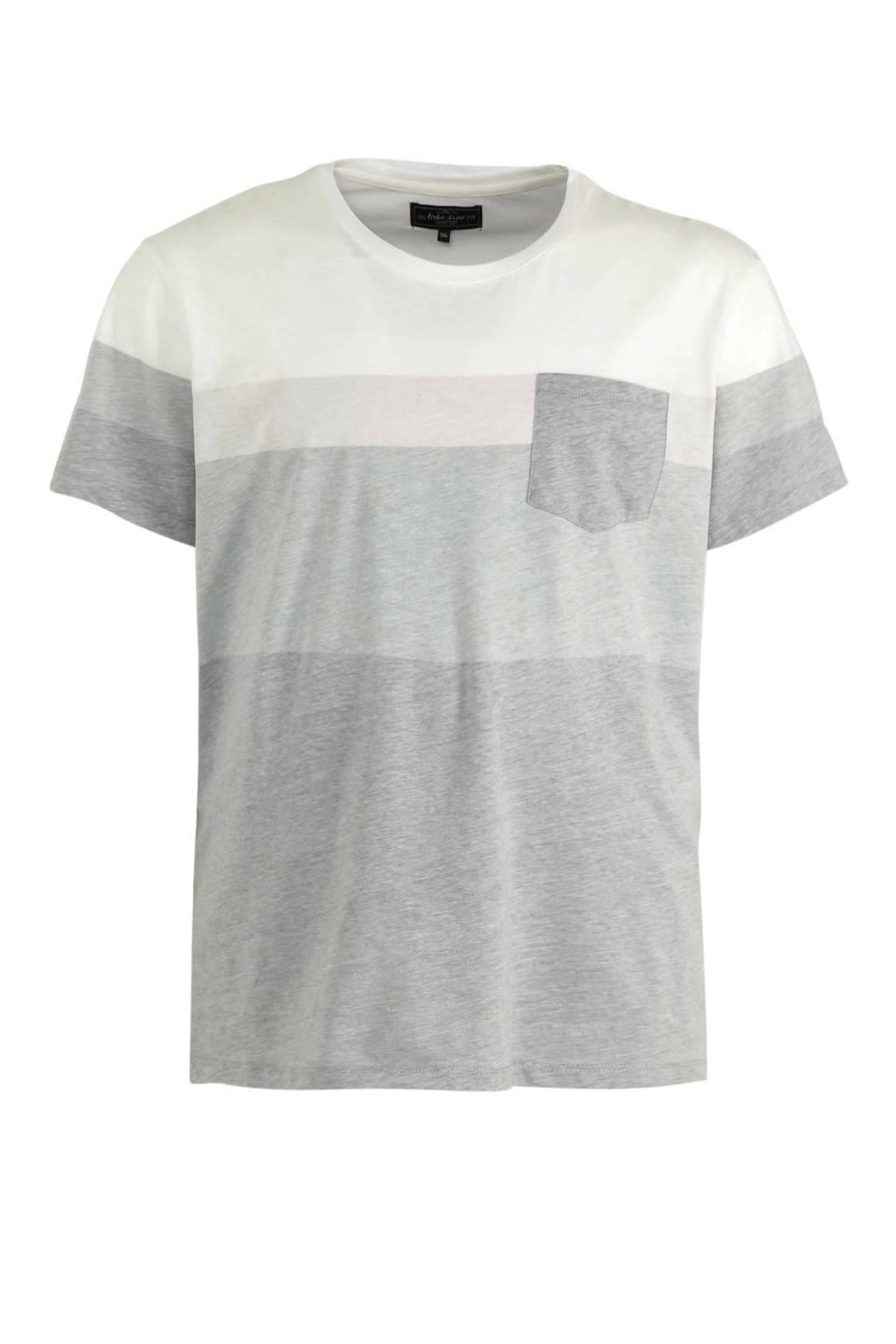 URBN SAINT T-shirt grijs/wit, Grijs/wit
