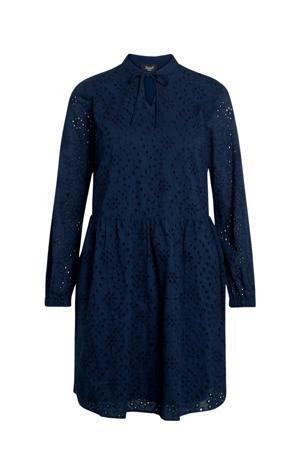 jurk VILKE-DR met kant blauw