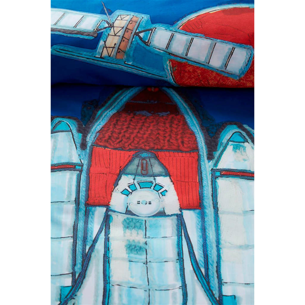 Beddinghouse katoenen kinderdekbedovertrek, Blauw