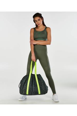 sporttas met slangenprint zwart
