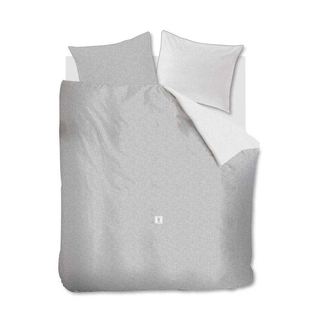 Riviera Maison katoenen dekbedovertrek lits jumeaux, Grijs, Lits-jumeaux (240 cm breed)